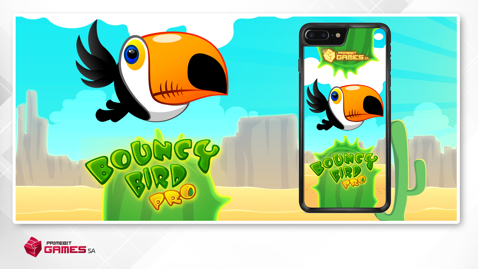 Etui na telefon - Bouncy Bird 2